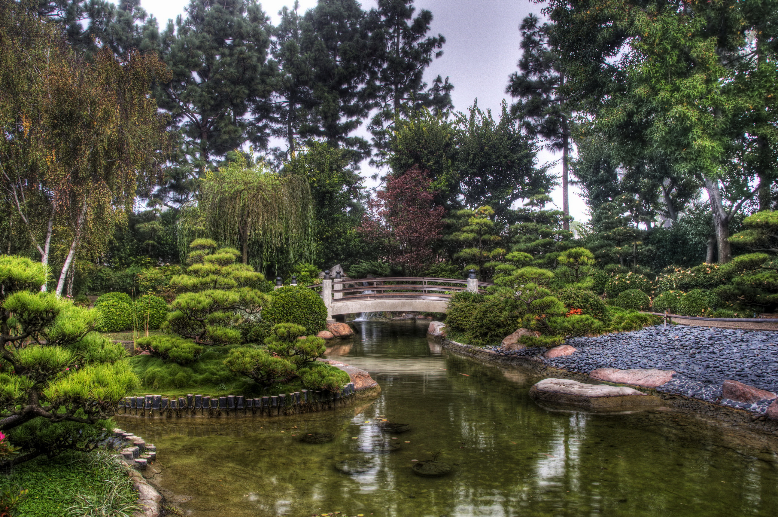 Photos Earl Burns Miller Japanese Garden California USA Nature Pond