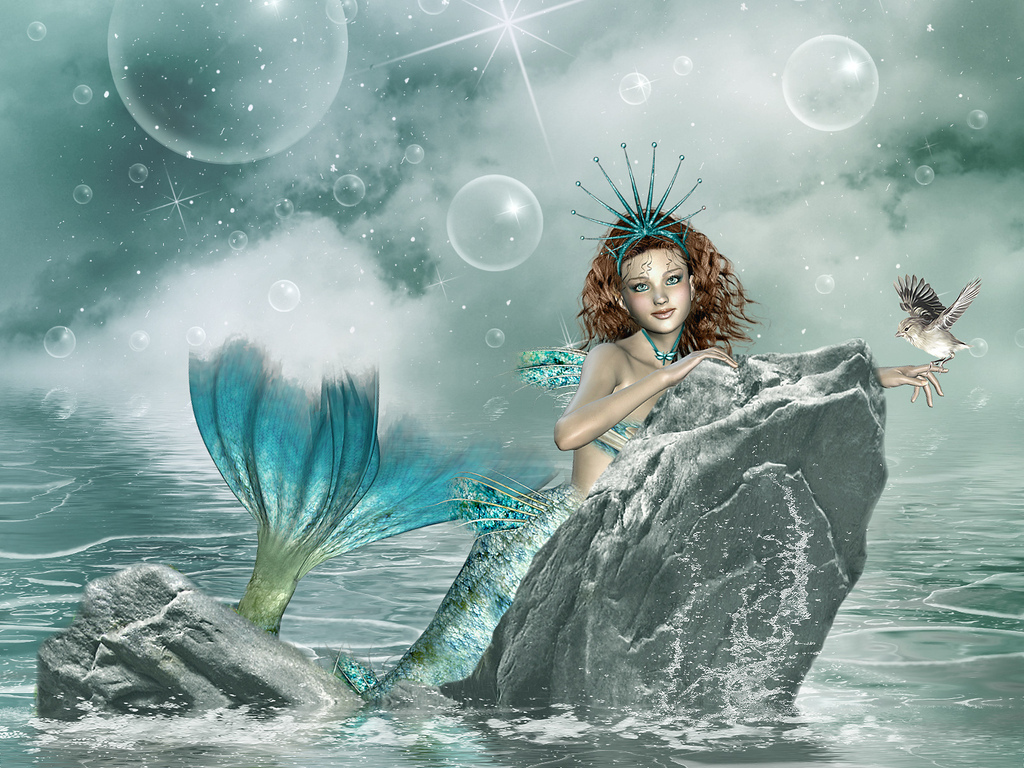 mermaid girls fantasy 3d graphics