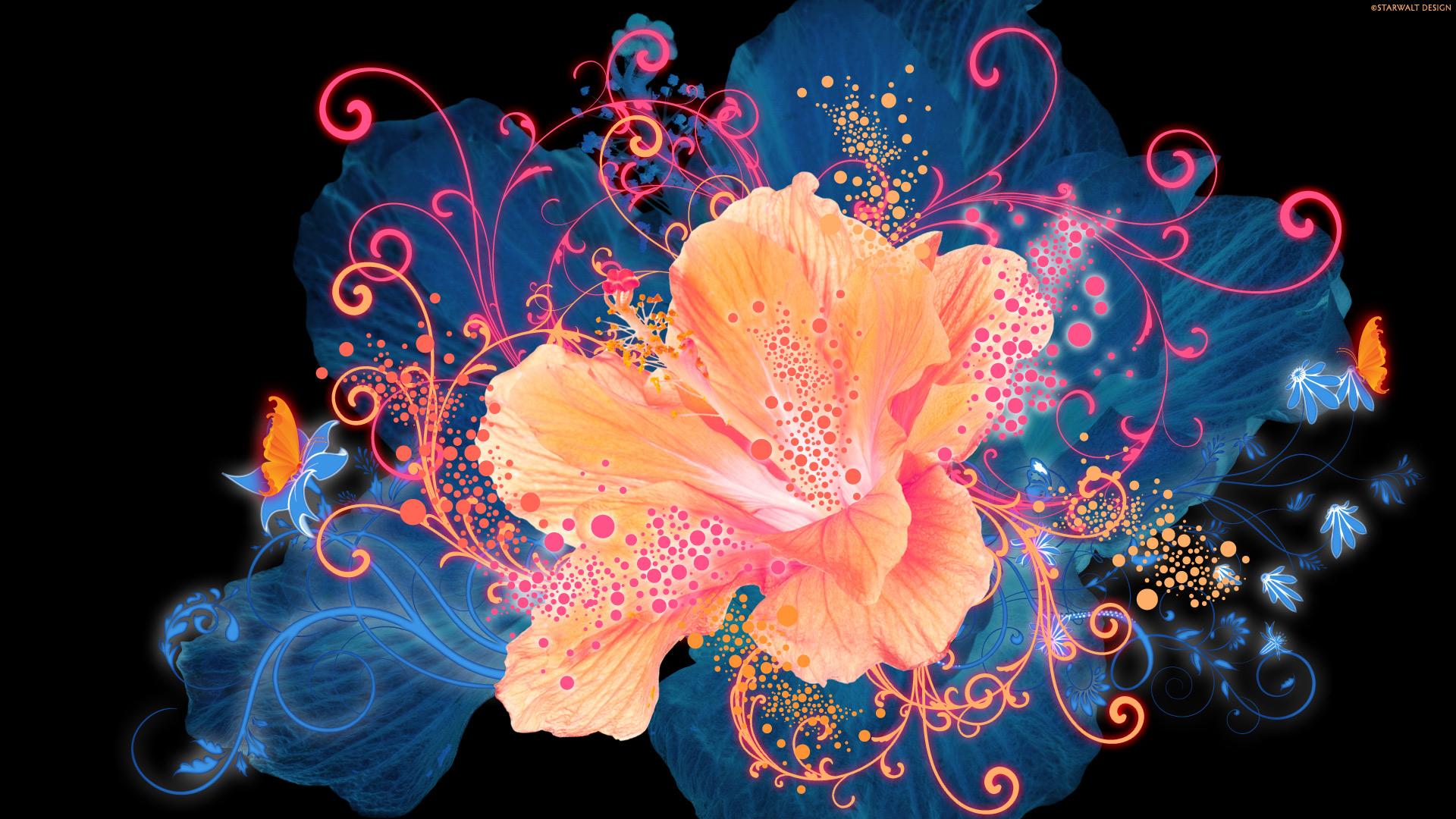 images 3d graphics flowers 1920x1080