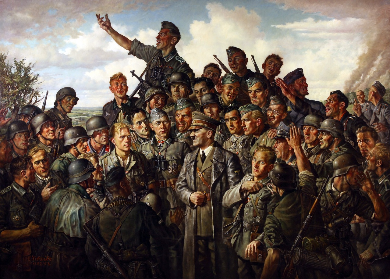 Pictures Soldier German Painting Art Army