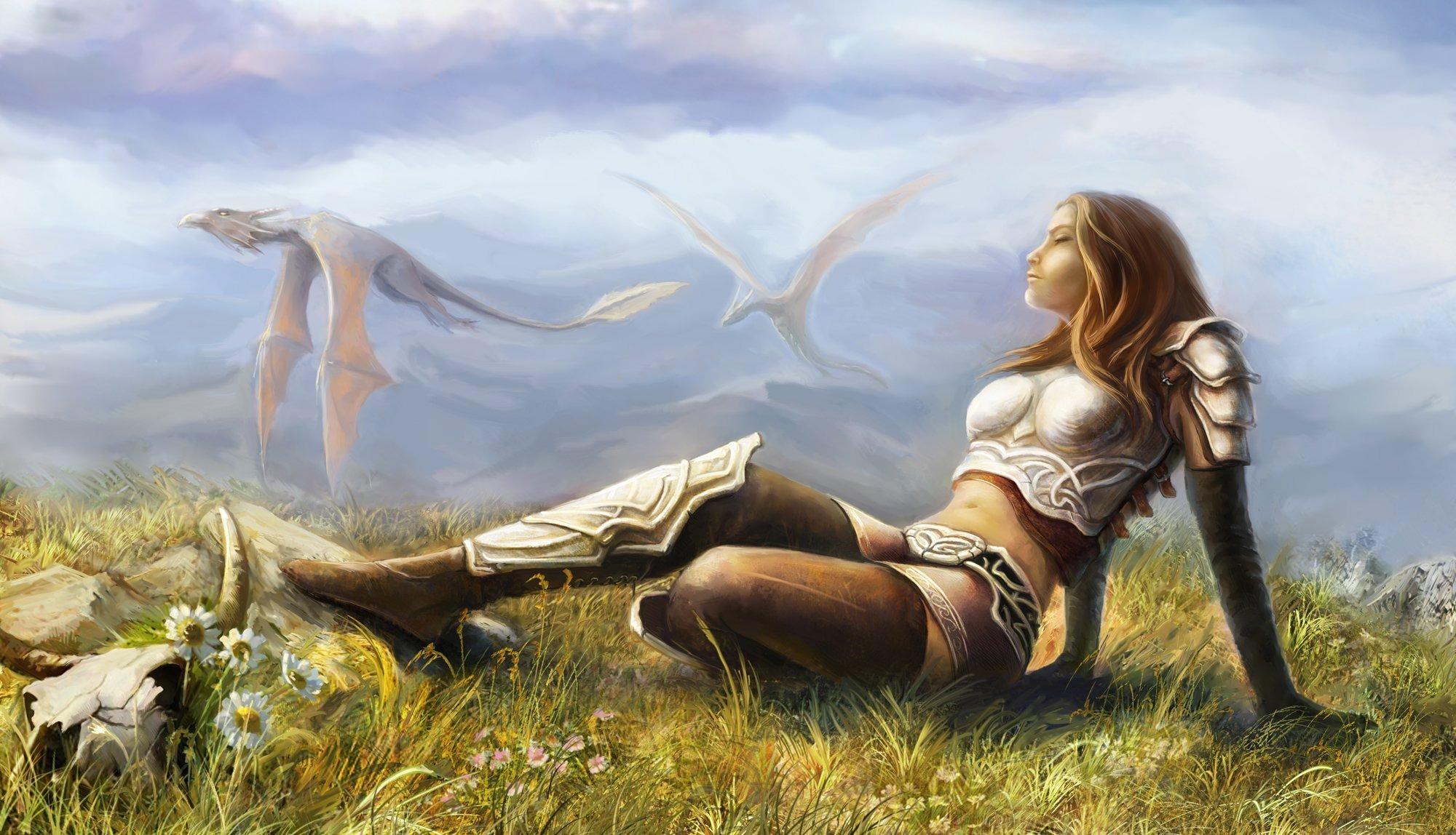 Medieval fantasy babe's nude archer sex photo