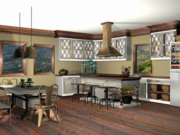 Fondos de pantalla dise o interior cocina dise o 3d gr ficos descargar imagenes - Diseno cocina 3d ...