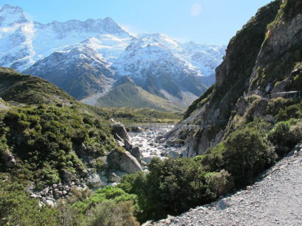Fonds D'ecran Montagnes Parc Pierres Nouvelle-Zélande