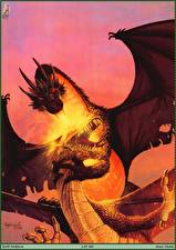 Picture Keith Parkinson Dragon Flame Two Fight Fantasy