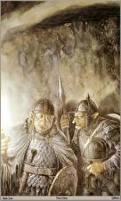 Fotos & Bilder Alan Lee Krieger Ork Rüstung Helm Zwei Fantasy fotos
