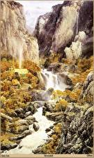 Fotos & Bilder Alan Lee Gebirge Flusse Fantasy fotos