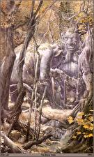 Picture Alan Lee the stone trolls