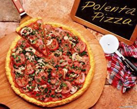 Desktop hintergrundbilder Pizza Tomaten das Essen