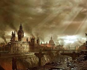 Hintergrundbilder Legendary Ruinen England London Spiele