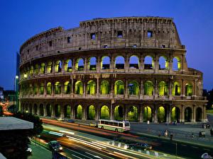 Fotos & Bilder Berühmte Gebäude Italien Kolosseum Rom Städte fotos