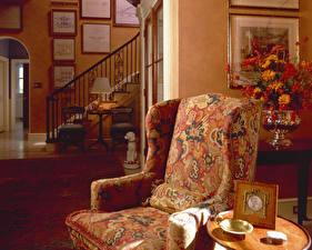 Wallpapers Interior Retro Armchair Design