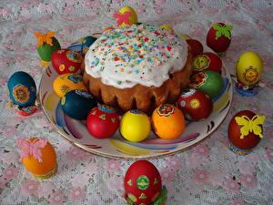 Fotos Feiertage Ostern Kulitsch Zuckerguss
