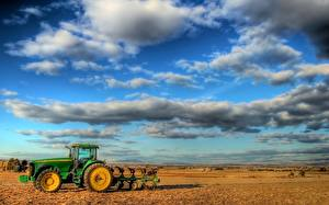 Fotos Ebene Himmel Traktor Wolke HDRI