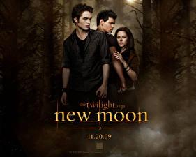 Wallpapers The Twilight Saga New Moon The Twilight Saga Robert Pattinson Kristen Stewart Taylor Lautner Movies