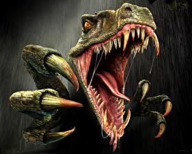 Fotos & Bilder Monsters Dinosaurier Zähne Grinsen Krallen Fantasy fotos