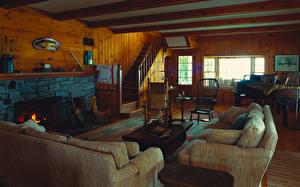 Pictures Interior Retro Living room Sofa Room Design