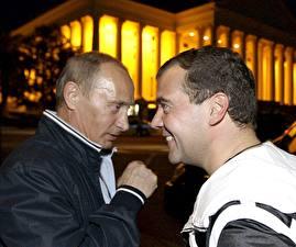 Fotos Vladimir Putin Dmitry Medvedev Präsident Prominente