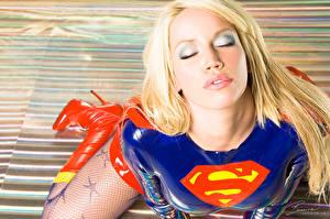 Fonds d'écran Bianca Beauchamp Supergirl Héros Botte Latex Filles