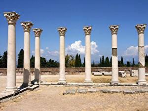 Hintergrundbilder Ruinen Griechenland Säule