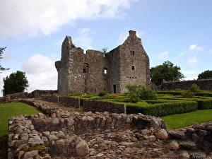 Hintergrundbilder Ruinen Irland