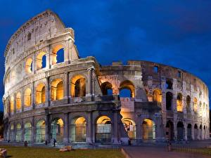 Picture Italy Famous buildings Colosseum Arch Cities