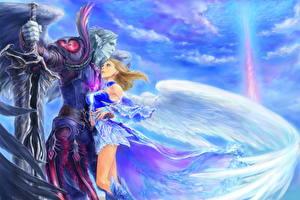 Fonds d'écran Amour Ange Couples dans l'amour Fantasy Filles