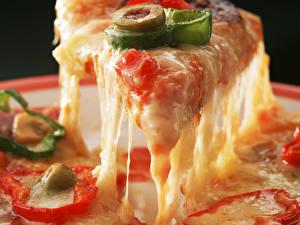 Hintergrundbilder Pizza Käse Stück das Essen