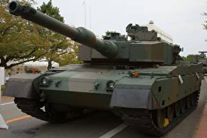 Hintergrundbilder Panzer Japanisch Mitsubishi Type 90 Heer