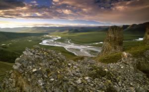 Fotos & Bilder Flusse Hügel Natur fotos