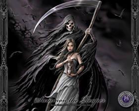 Fotos & Bilder Gothic Fantasy Anne Stokes Sensenmann Kriegssense Fantasy fotos