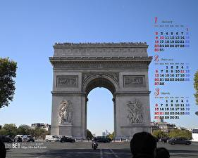 Desktop wallpapers France Arch Cities