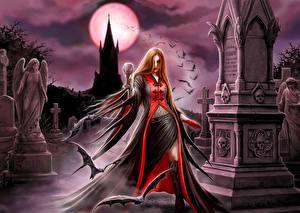 Fotos & Bilder Vampir Anne Stokes Friedhof Fantasy fotos