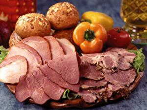 Fotos & Bilder Schinken Geschnitten Lebensmittel fotos