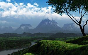 Fotos & Bilder Gebirge 3D-Grafik Natur fotos
