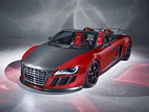 Photo Audi Carbon fiber Cabriolet Red R8 GT automobile