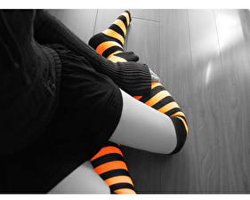 Image Closeup Knee highs Stripes