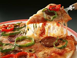 Hintergrundbilder Pizza Stück  Lebensmittel