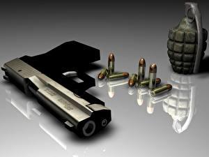 Hintergrundbilder Pistolen Handgranate