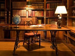 Bilder Innenarchitektur Tisch Bibliothek Lampe