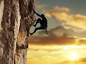 Bilder Bergsteigen Bergsteiger