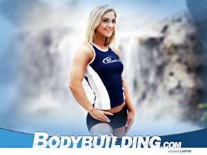 Fonds d'écran Bodybuilding Débardeur Short jeune femme Sport