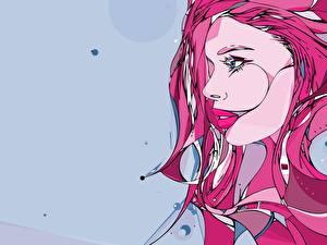 Hintergrundbilder Vektorgrafik Mädchens