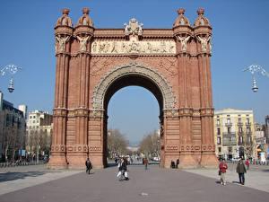 Photo Spain Arch Arc de Triomf Barcelona Cities