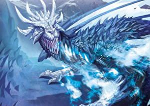 Картинки девушка с драконом