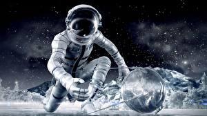 Picture Cosmonaut Helmet 3D Graphics Space