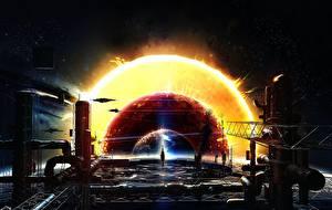 Wallpapers Technics Fantasy Orbital stations Fantasy Space
