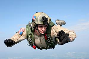 Fotos Soldaten Fallschirmspringen Fallen Heer