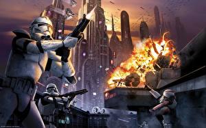 Wallpaper Star Wars Clone trooper Games