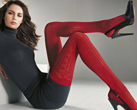 Picture Stockings Gown High heels female