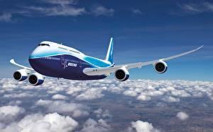 Bilder Flugzeuge Verkehrsflugzeug Boeing 747